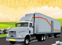 12 Wheeler vidd el a rakományt a kamionnal