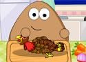 Pou Thanksgiving Day Slacking készítsd el a pulykát