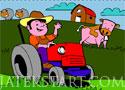 Farm Tractor Coloring színezd ki a traktort