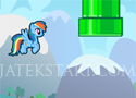 Flappy Rainbow Pony vezesd végig a lovat