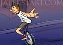Fratboy Unicycle Relay egykerekű bringás játék