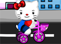 Hello Kitty Bicycle Accident gyógyítsd meg a cicát