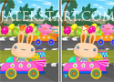 Spot Five Differences Easter Bunny