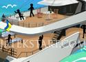 Stickman Death Yacht tedd el láb alól a pálcikaembereket