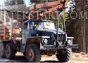 Timber Lorry Driver szállíts farönköket