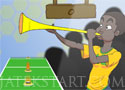 Vuvu Hero kelts minél nagyobb zajt a vuvuzelával